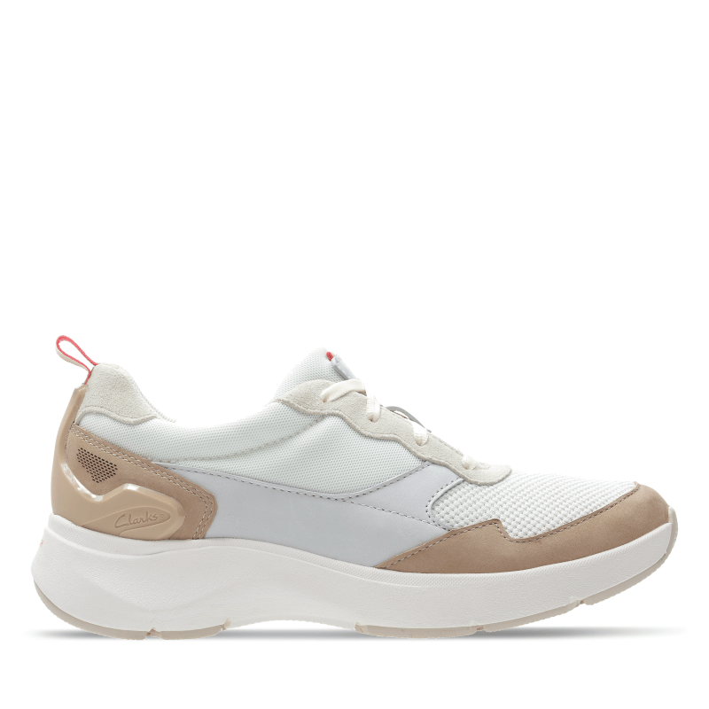 Clarks Wave 2.0 Move White Right