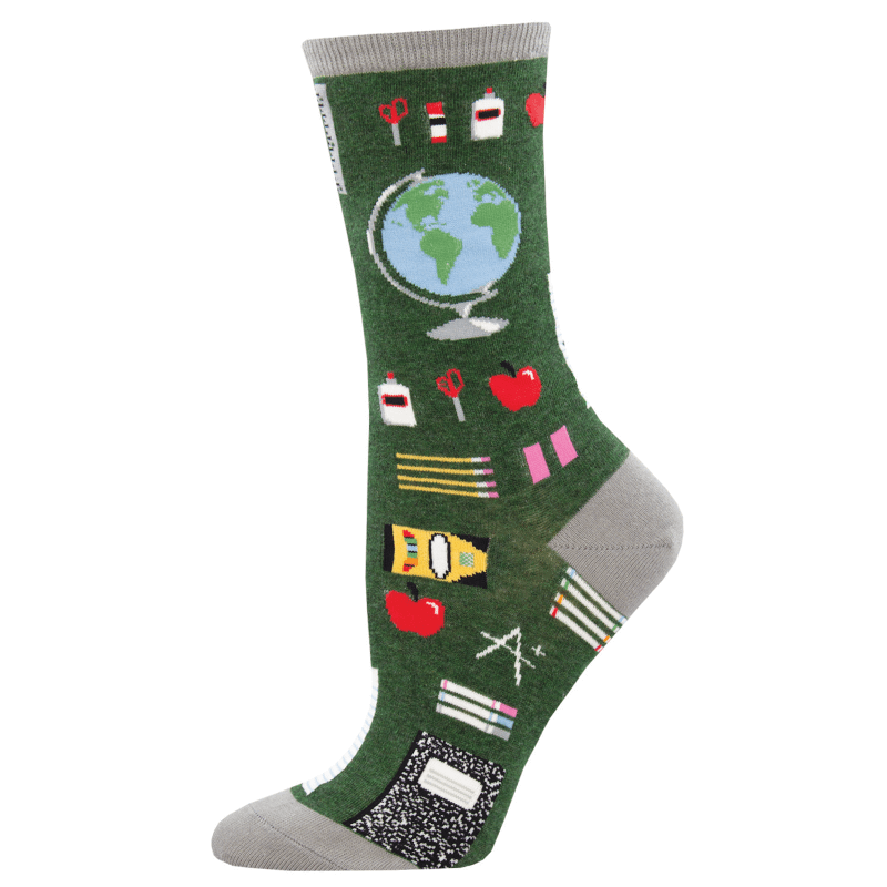 Socksmith Study Buddies Green Heather