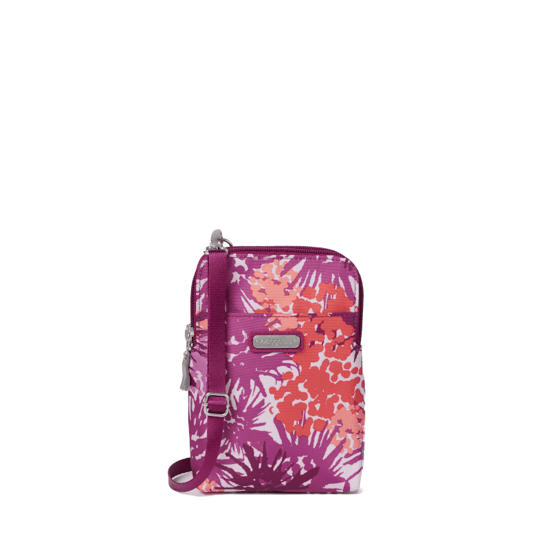 Baggallini Bryant Crossbody Plum Thistle Front-min