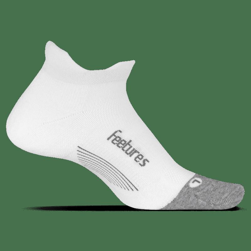 Feetures Elite Light Cushion No Show White-min